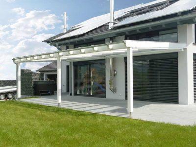 terrassendach aus holz und glasdach